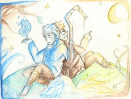 Jack frost 2 -Watercolor by Cheapcookie