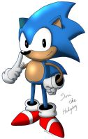 Classic Sonic The Hedgehog by nefolllwynog