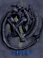 H.R Giger xenomorph tribute by spacetick