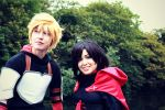 RWBY- Jaune and Ruby by twinfools
