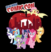 NY Comicon Exclusive Tee - Ponies Take Manehattan by xkappax