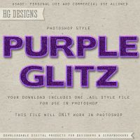 PS Style: Purple Glitz by HGGraphicDesigns