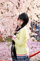 Homura with cherry blossoms by o0oFairyo0o