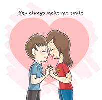 You always make me smile by Rizatch