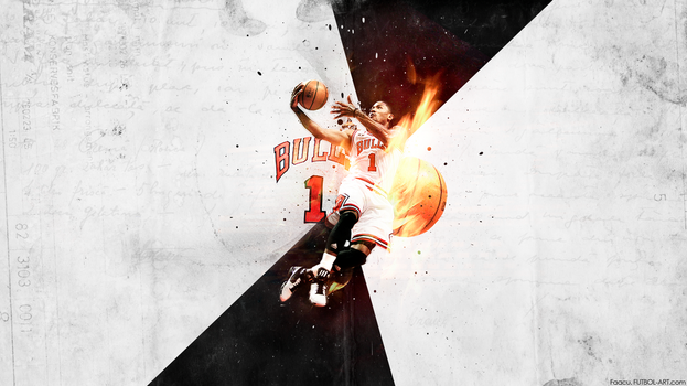 Derrick Rose V2 - Basketball by faacu14