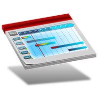 Project timeline dock icon by Ornorm