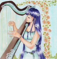 Me and my harp by Luacia