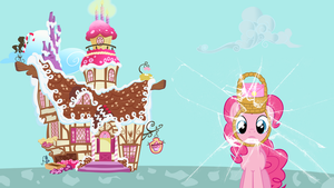 Pinkie Pie Broke The Wall Again - Wallpaper by GuruGrendo
