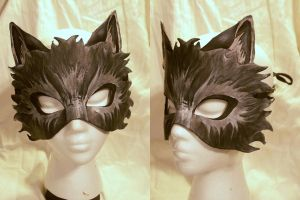 Leather Wolf Mask by MirabellaTook