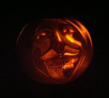 Smiling Titan Carving by ShenaniBOOM