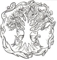 tree of life with elements by bandeau