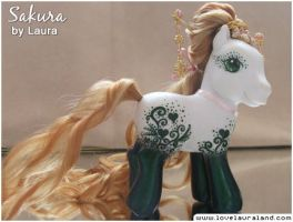 Custom my little pony Sakura by lovelauraland