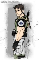 Chris Redfield artwork by redfield37