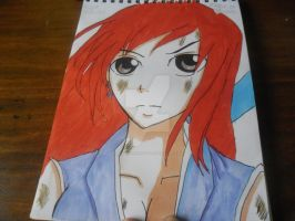 Copic Drawing: Erza Scarlet's Robes of Yuen Armour by MakiLoveCrysis