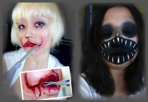 Halloween makeup by NaoGatita
