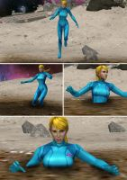 Samus vs Quicksand 1 by alyxcaptor