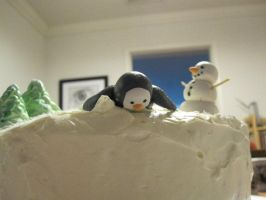 Penguin cake 2 by recycledrapunzel