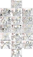 Anime+Videogame coloring book by eyfey