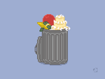 Your Trash Goes Here Pixel Art Illustration by iSketchworks