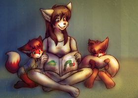 Bedtime Story By Nathahniel by BabyChrisFox