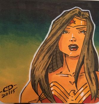 Wonder Woman - post it sketch by ChawliePawpit