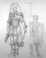 Astrid the Giantess - Scale and Armour by kcho9