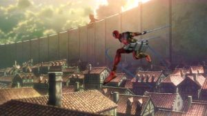Attack on Titan by Deadpool by Corvaayne