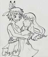 Only Make-Believe Lineart by My-Anne