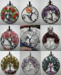 Tree of Life Pendant Collage 2 by Pinkfirefly135