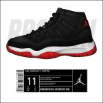 Air Jordan 11 Retro 'Playoffs' by BBoyKai91
