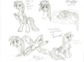 Rainbow Dash sketch dump by Scarecrow31