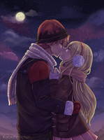 NaLu Fluff Week Day 2 - Starry Date by Karokitten-chan