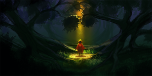 Daily Spitpaint challenge: Ancient Woods by Catwagons