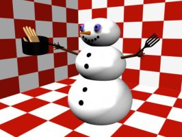 Hungry Snowman by Clukyrat