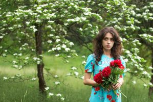 Nataly in flowers by Viand