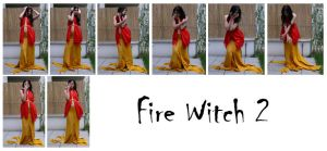 fire witch 2 by syccas-stock