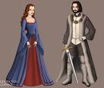 Ned and Catelyn by alcanis-ivennil