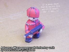 Papercraft Advance Wars Orange Star Infantry by ninjatoespapercraft