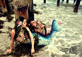 Mermaids on the Shore by MerBellas