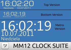 MM12 Clock Suite For Rainmeter by mmaciek12