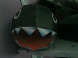 Chain chomp papercraft by aardonix