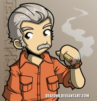Uncharted 3 Sully by desfunk