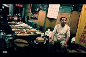 Open air restaurant in Pingyao by Blazko