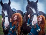 Merida and Angus_3 by GreatQueenLina