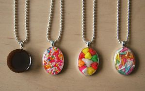 Yummy Resin Necklaces by WolfandSquid