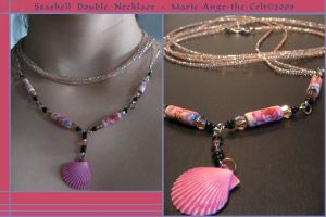 Seashell Double Necklace by Marie-Ange-the-Celt