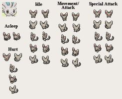 Minccino - PMD custom sprites by PowerCristal