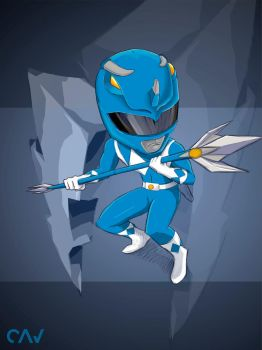 Blue Ranger Mighty Morphin by RafaelCavalcanti