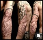 Polynesian Sleeve session 1. by Stormpod