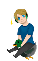 Pewds and his swaggalicious duck by robieyn